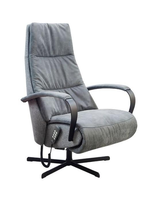 elektrische relaxzetel Chios grijs stof